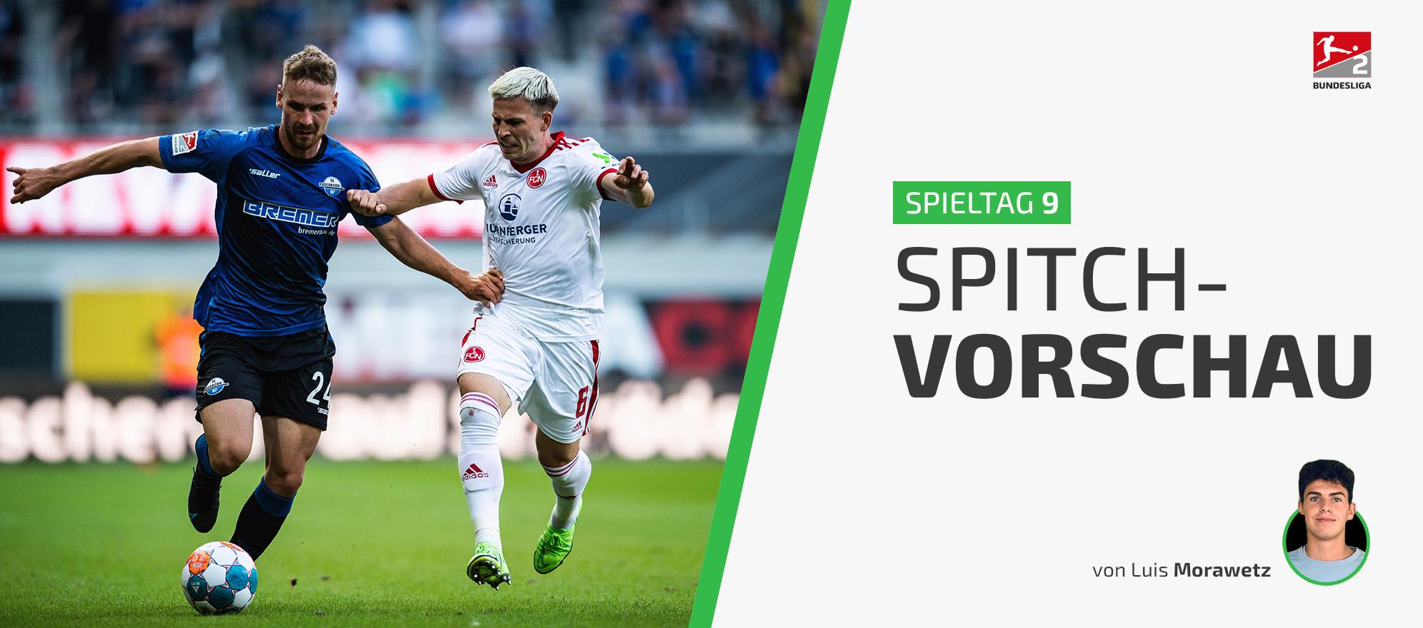 Unsere Vorschau auf den 9. Spieltag der 2. Bundesliga